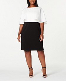 Trendy Plus Size Colorblocked Popover Dress
