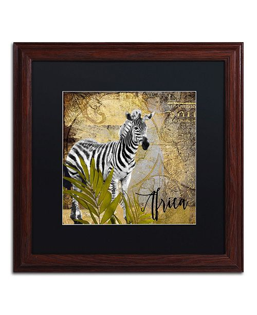 "Trademark Global Color Bakery 'Taste Of Africa IV' Matted Framed Art - 16"" x 16"""