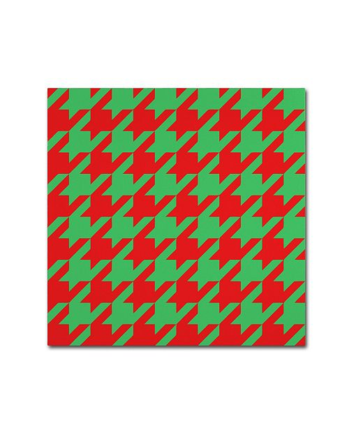 "Trademark Global Color Bakery 'Xmas Houndstooth' Canvas Art - 24"" x 24"""