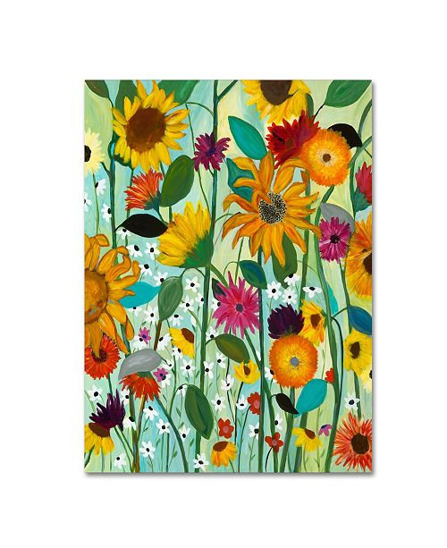 "Trademark Global Carrie Schmitt 'Sunflower House' Canvas Art - 35"" x 47"""