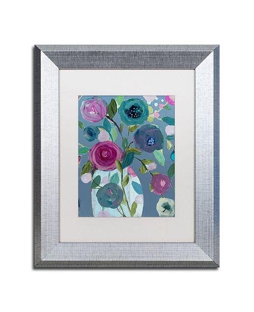 """Trademark Global Carrie Schmitt 'Easy Joy' Matted Framed Art - 11"""" x 14"""""""