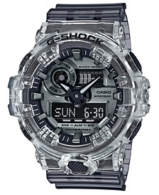 Men's Analog-Digital Skeleton Clear Resin Strap Watch 53.4mm