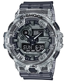 G-Shock Men's Analog-Digital Skeleton Clear Resin Strap Watch 53.4mm