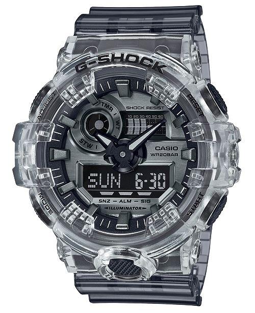 G-Shock Men's Analog-Digital Skeleton Clear Resin Strap Watch 53.4mm