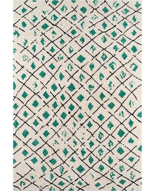 Novogratz Collection Novogratz Bungalow Bun-2 Green 9' x 12' Area Rug