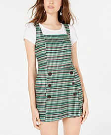 Juniors' Plaid Skort Dress