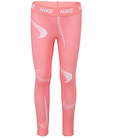 Nike Little Girls Swoosh-Print Leggings