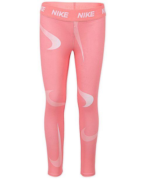 Nike Little Girls Swoosh-Print Leggings