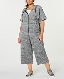 Plus Size Cropped Hoodie, Created for Macy's