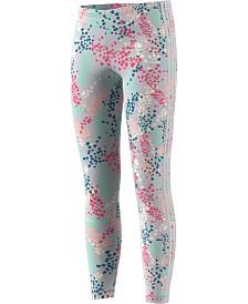 adidas Originals Big Girls Floral-Print 3-Stripes Leggings