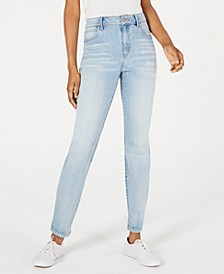 Juniors' Ripped-Hem High-Rise Jeans