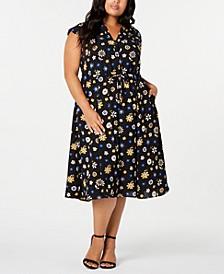 Plus Size Libretto Printed Drawstring Midi Dress