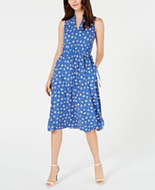 Anne Klein Printed A-Line Dress