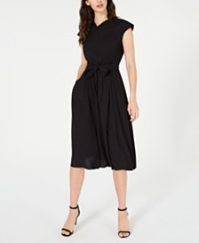 Anne Klein Belted A-Line Dress