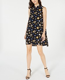 Anne Klein Floral-Print Shift Dress