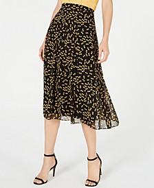 Dot-Print Chiffon Skirt