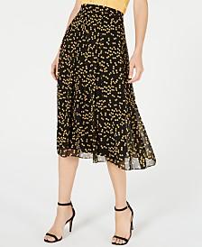 Anne Klein Dot-Print Chiffon Skirt