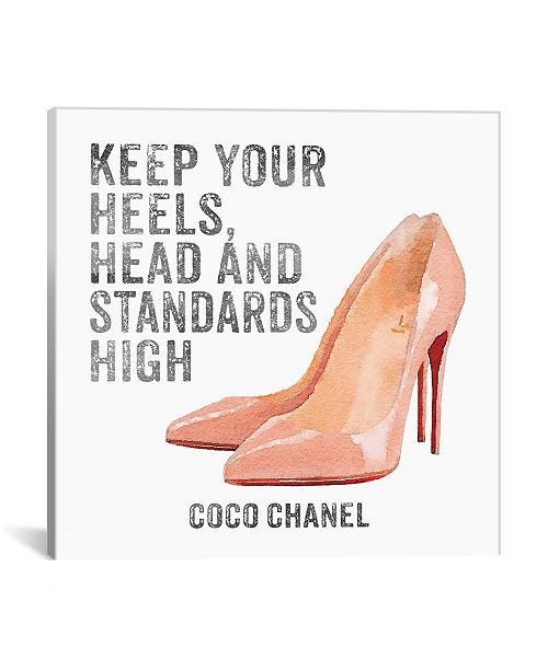 """iCanvas Keep Your Heels, Head and Standards High I by Amanda Greenwood Gallery-Wrapped Canvas Print - 37"""" x 37"""" x 0.75"""""""