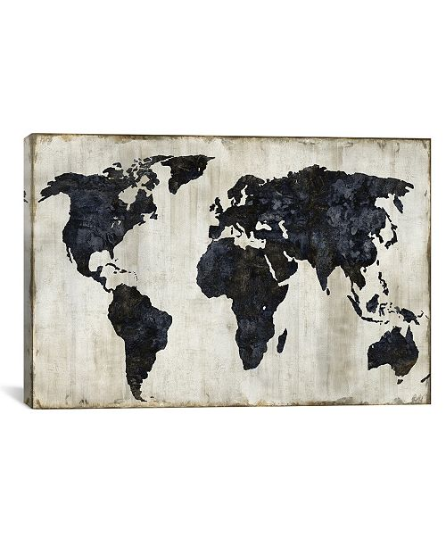 """iCanvas The World Ii by Russell Brennan Gallery-Wrapped Canvas Print - 26"""" x 40"""" x 0.75"""""""