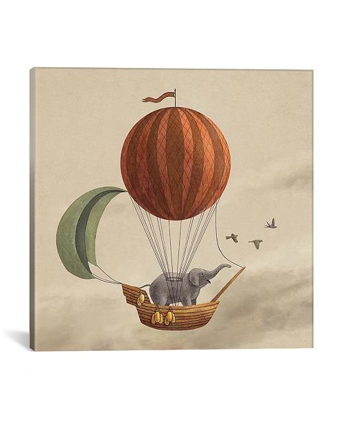 """iCanvas Adventure Awaits by Terry Fan Gallery-Wrapped Canvas Print - 18"""" x 18"""" x 0.75"""""""
