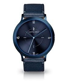 Lilienthal Berlin Urbania All Blue Leather Watch 40mm