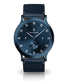 Lilienthal Berlin L1 All Blue Leather Watch 37mm