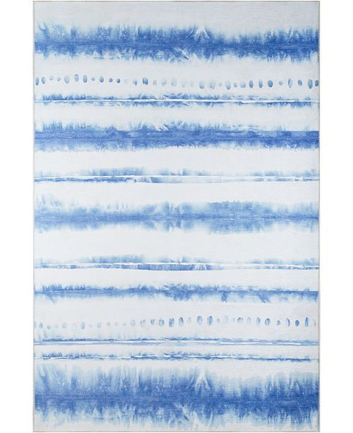 "Novogratz Collection Novogratz District Dis-8 Blue 5' x 7'6"" Area Rug"