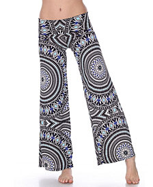 White Mark Geometric Print Palazzo Pants