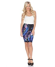 Pretty and Proper Print Pencil Skirt
