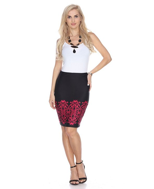 White Mark Pretty and Proper Pencil Skirt
