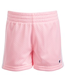 Toddler & Little Girls Striped Mesh Shorts