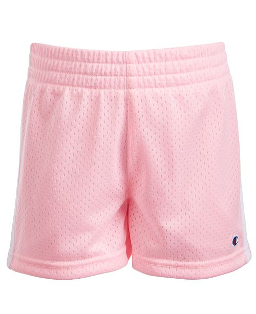 Champion Big Girls Striped Mesh Shorts