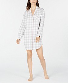 Cotton Flannel Sleep Shirt, Created for Macy's