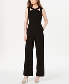Calvin Klein Cutout Straight-Leg Jumpsuit