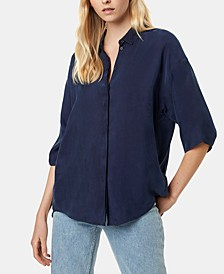 Etta Oversized Button-Front Shirt
