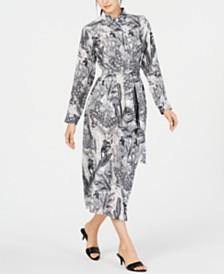 Weekend Max Mara Ossola Printed Silk Button-Down Dress