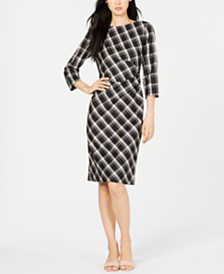 Weekend Max Mara Fiorina Ruched Plaid Dress