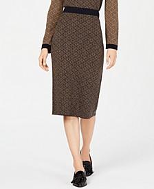 Zebio Printed Sweater-Knit Skirt