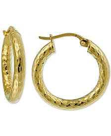 Giani Bernini Diamond-Cut Hoop Earrings in 18k Gold-Plate Over Sterling Silver, Created for Macy's