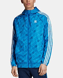 adidas Men's Originals Logo-Print Windbreaker