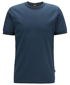 BOSS Men's Tessler 120 Slim-Fit Mouliné Cotton T-Shirt