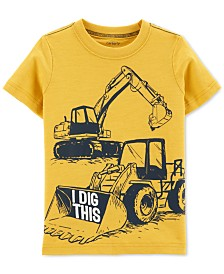 Carter's Baby Boys Dig-Print Cotton T-Shirt