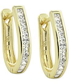 Giani Bernini Cubic Zirconia Oval Hoop Earrings, Created for Macy's