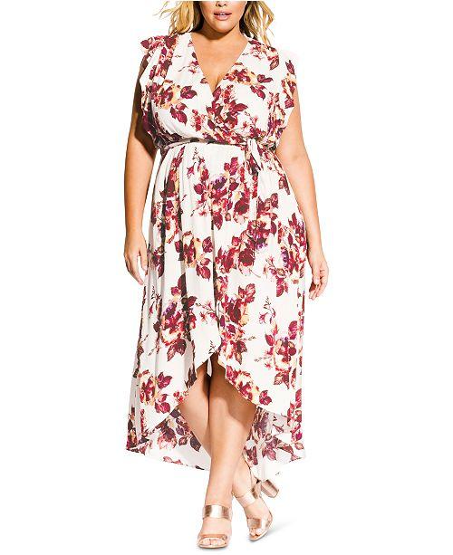 Trendy Plus Size High-Low Maxi Dress