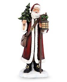 Napco Santa with Tree and Lantern