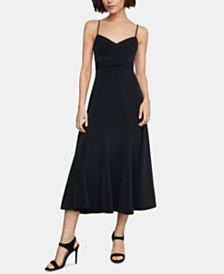 BCBGMAXAZRIA Satin Midi Dress