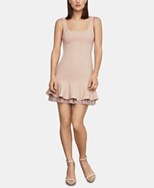 BCBGMAXAZRIA Flounce-Hem Fit & Flare Dress