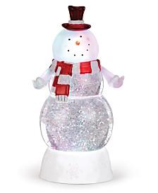 Napco LED Christmas Snowman Snow Globe