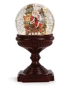 Napco LED Santa on Sleigh Water Globe