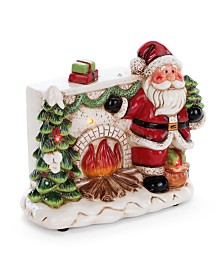 Napco LED Santa with Fireplace and Music